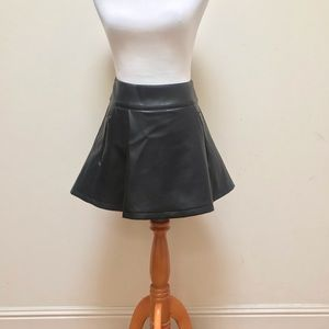 Nasty Gal | Faux Leather Pleated A-Line Mini Skirt